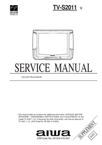 Suplemento Manual de servicio Aiwa TV-S2011 U