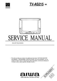 Erweiterung zur Serviceanleitung Aiwa TV-AS215 NH