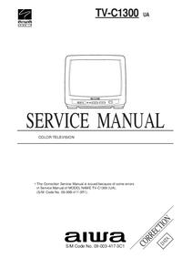 Suplemento Manual de servicio Aiwa TV-C1300 UA