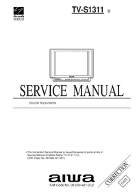 Service Manual Supplement Aiwa TV-S1311 U