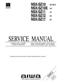 manuel de réparation Aiwa NSX-SZ10 K