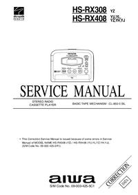 Руководство по техническому обслуживанию дополнения Aiwa HS-RX408 YZ