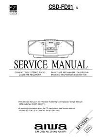 Service Manual Aiwa CSD-FD91 U