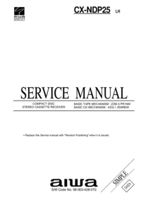 Service Manual Aiwa CX-NDP25 LH
