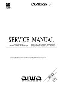 Servicehandboek Aiwa CX-NDP25 LH