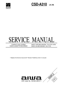 Руководство по техническому обслуживанию Aiwa CSD-A310 LH