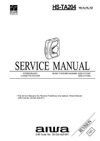 manuel de réparation Aiwa HS-TA204 YH