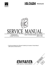 Service Manual Aiwa HS-TA204 YL
