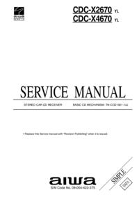 Manual de serviço Aiwa CDC-X2670 YL
