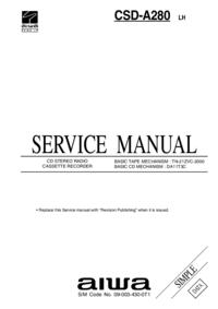 Servicehandboek Aiwa CSD-A280 LH