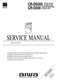 Manual de servicio Aiwa CR-DS505 YL1(S)