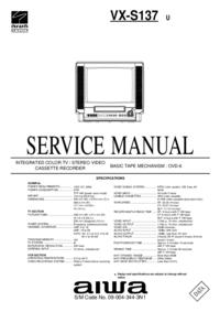 Service Manual Aiwa VX-S137 U