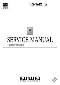 manuel de réparation Aiwa TS-W42 UB