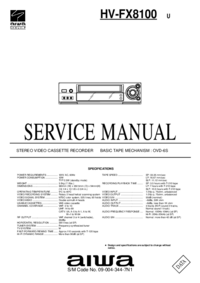 Service Manual Aiwa HV-FX8100 U