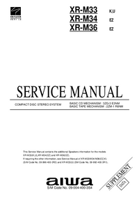 Manual de servicio Aiwa XR-M33 K