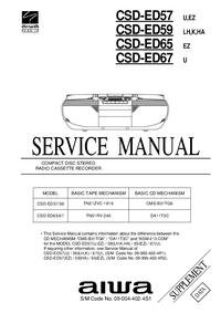 Serviço Manual Supplement Aiwa CSD-ED59 HA
