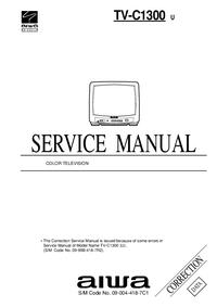 Dodatek Instrukcja Serwisowa Aiwa TV-C1300 U