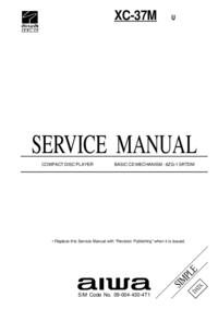 Manual de servicio Aiwa XC-37M U