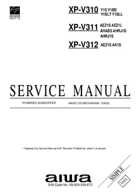 Manual de servicio Aiwa XP-V310 Y1BD
