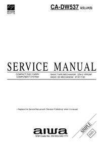 manuel de réparation Aiwa CA-DW537 U(S)