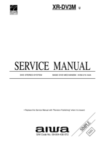 Service Manual Aiwa XR-DV3M U
