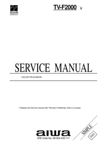 Service Manual Aiwa TV-F2000 U