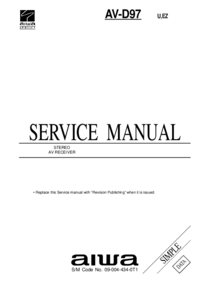 Руководство по техническому обслуживанию Aiwa AV-D97 U