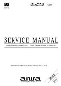 Instrukcja serwisowa Aiwa CT-Z110 YJ(ST)
