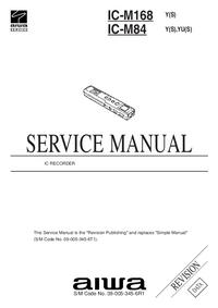 Servicehandboek Aiwa IC-M84  Y(S)