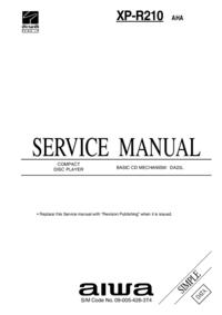 Manual de servicio Aiwa XP-R210 AHA