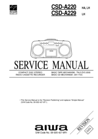 Service Manual Aiwa CSD-A220 HA