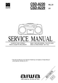 Instrukcja serwisowa Aiwa CSD-A229 LH