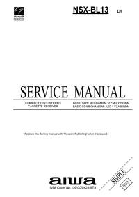 Manual de servicio Aiwa NSX-BL13 LH