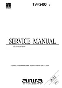 Manual de serviço Aiwa TV-F2400 U