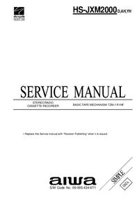 Manual de serviço Aiwa HS-JXM2000 YH