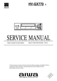 Servicehandboek Aiwa HV-GX770 K