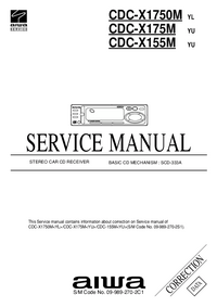 Service Manual Supplement Aiwa CDC-X1750M YL