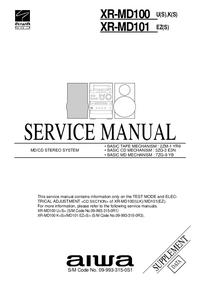 Supplément manuel de réparation Aiwa XR-MD100 U(S)