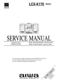 Supplément manuel de réparation Aiwa LCX-K170 HRJ(ST)