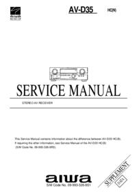 Manuale di servizio Supplemento Aiwa AV-D35 HC(N)