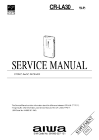 Service Manual Supplement Aiwa CR-LA30 Y(L/P)