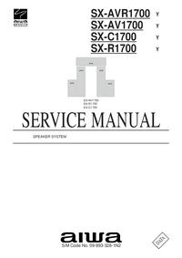 Manuale di servizio Aiwa SX-C1700   Y