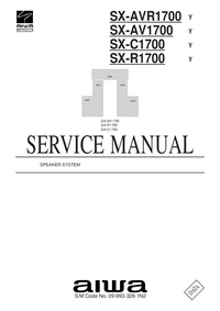Руководство по техническому обслуживанию Aiwa SX-C1700   Y