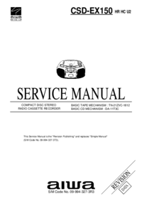 Service Manual Aiwa CSD-EX150 HR