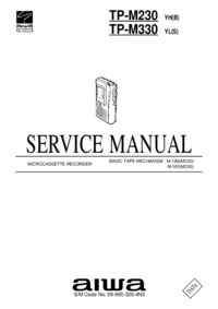 Manual de serviço Aiwa TP-M330 YL(S)