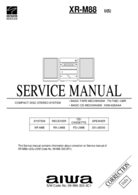 Service Manual Supplement Aiwa XR-M88 U(S)