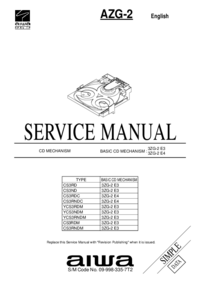 Manual de servicio Aiwa AZG-2 CS3RD