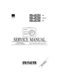 Руководство по техническому обслуживанию Aiwa HS-JX704 YH