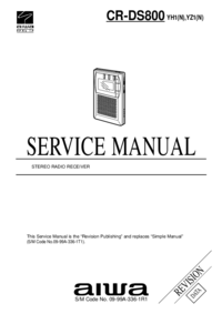 Manual de servicio Aiwa CR-DS800 YH1(N)