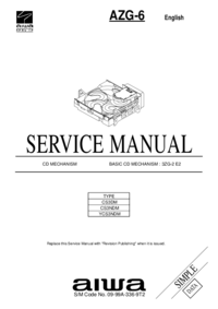 Manual de servicio Aiwa AZG-6 CS3NDM